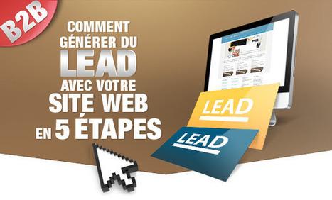 Infographie - Générer du lead avec votre site internet B2B en 5 étapes | Infography | Scoop.it