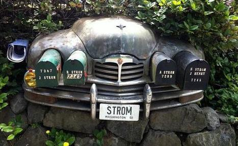 Creative Recycling Ideas Turning Mail Boxes into Unique Yard Decorations and Art Works | Green RVing | Scoop.it