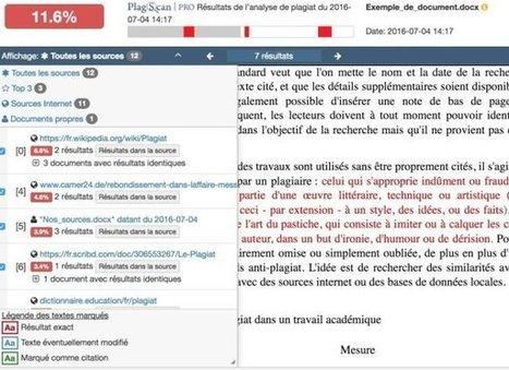 PlagScan. L'arme fatale contre les plagiats – Les Outils Tice | NUMÉRIQUE TIC TICE TUICE | Scoop.it