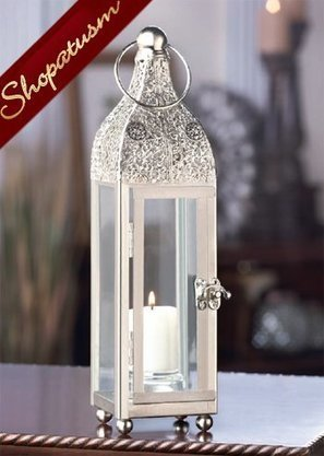 24 Candle Lanterns Ornate Silver Tower Wholesal...