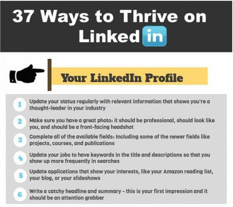 37 Ways To Thrive On Linkedin | DreamGrow | World's Best Infographics | Scoop.it
