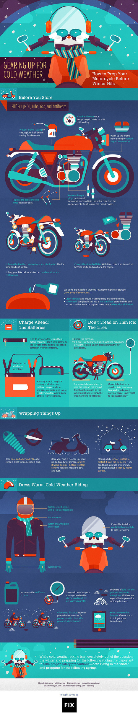 Prepare Your Motorcycle for Winter with Help from This Graphic   Bazaar   Scoop.it