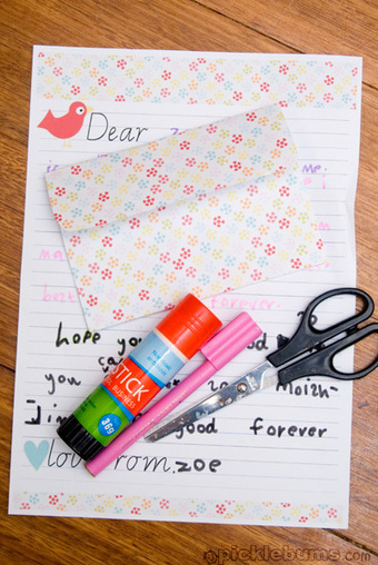 Printable Kids Letter Writing Set - picklebums.com | LA 4 K12 | Scoop.it
