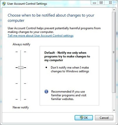 Quick and Easy Way to Access Windows 7 System Settings Such As User Account Control | Techy Stuff | Scoop.it