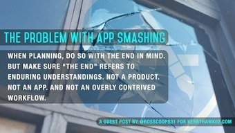 Start with a Question: Guest Post: The Problem with App Smashing | The 1 iPad Classroom | Scoop.it