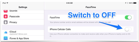 How to Remove Calls from your iPad in iOS8 - Teaching with iPad | iPad Apps for Education | Scoop.it