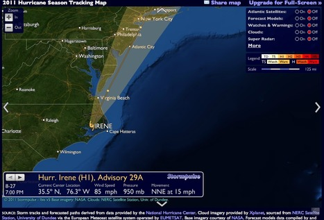 Track Hurricane Irene / Stormpulse / Hurricanes, severe weather, tracking, mapping   Mapping NYC hurricane   Scoop.it