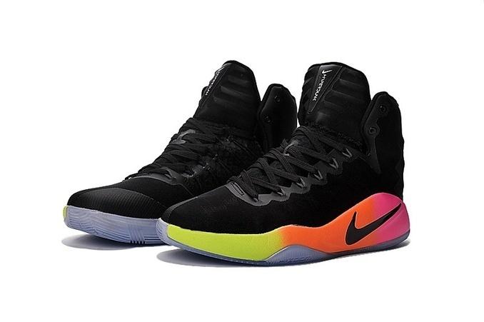 Nike Hyperdunk 2016 Black Rainbow Women Shoes [