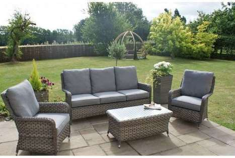 Fantastic Victoria 3 Seater High Back Sofa Set Garden F Caraccident5 Cool Chair Designs And Ideas Caraccident5Info