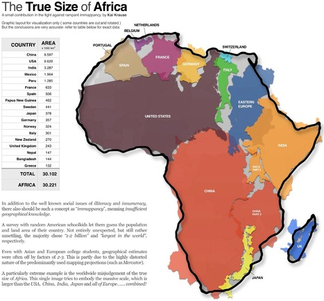The True Size Of Africa   All That Is Interesting   IB&A Level Geography   Scoop.it