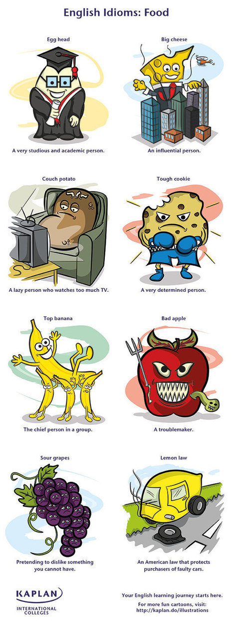 Eggheads, couch potatoes and tough cookies - 8 English food idioms   English IDIOMS   Scoop.it