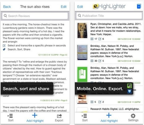 eHighlighter- A Great iPad App for Taking and Annotating Notes Is Now Free | Tools and Apps for School Libraries | Scoop.it