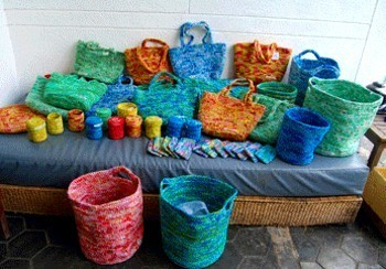 Recycled Plastic Bags In RECYCLED ART PRODUCTS AND THINGS