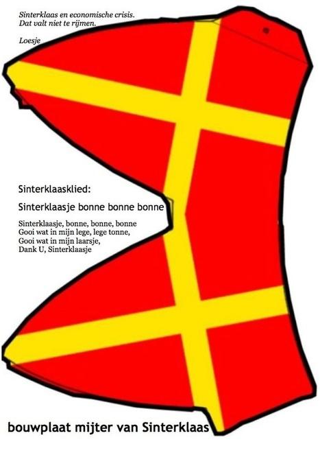 Eenvoudige bouwplaat van de mijter van sinterklaas | Sinterklaasfeest, feest met Sint Nicolaas, Zwarte Piet en goochelaar in voorprogramma | Scoop.it