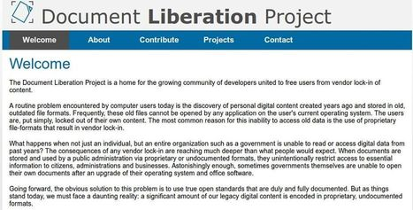 New Document Liberation Project aims to free users from vendor lock-in - Muktware | TDF & LibreOffice | Scoop.it