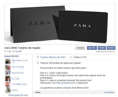 'Zara 500€ Tarjeta de regalo', nuevo timo en Facebook - ComputerHoy.com | Entretenimientored | Scoop.it