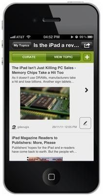 Scoop.it packs its blog-style Web curation tools into a new iPhone app | Curate your Learning | Scoop.it