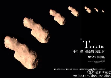 New milestone for China: Probe snaps close-ups of asteroid Toutatis | The Cosmos | Scoop.it