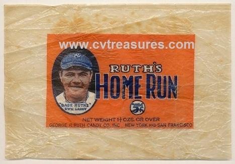 Cv treasures presents: BABE RUTH Candy Wrapper | Conway's Vintage Treasures | Scoop.it