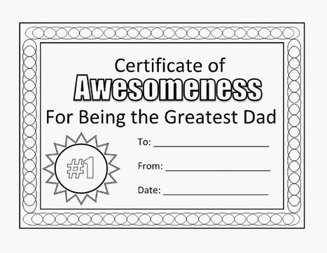 Happy Fathers Day Coloring Pages Certificate | ...