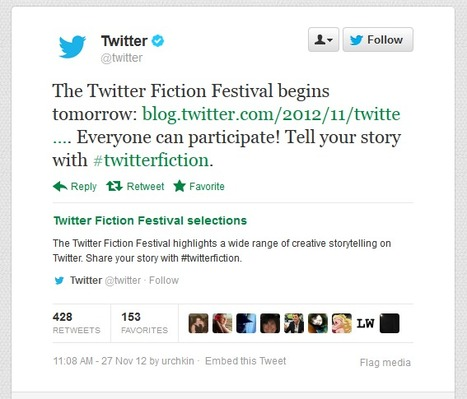 Flash fiction: Using Twitter for storytelling | Transmedia: Storytelling for the Digital Age | Scoop.it
