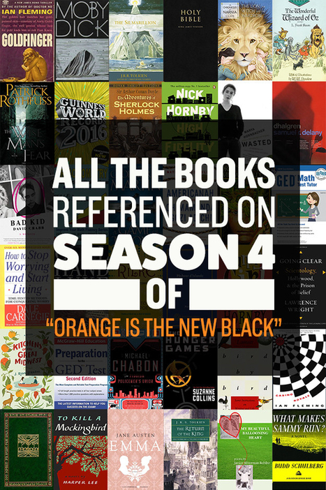 """Every Book Referenced On Season 4 Of """"Orange Is The New Black""""   Google Lit Trips: Reading About Reading   Scoop.it"""