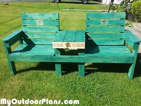 Super Large Double Chair Bench With Table Myoutdoor Caraccident5 Cool Chair Designs And Ideas Caraccident5Info