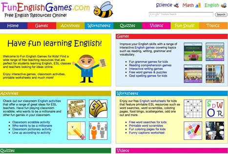 Fun English Games for Kids - Free Interactive Learning Activities Online   IKT och iPad i undervisningen   Scoop.it
