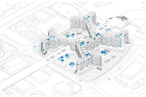 Bojing Qu solves SHANGHAI urban sprawl with rotating plug-in capsules   The Architecture of the City   Scoop.it