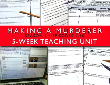 Making a Murderer Teaching Unit Season 1 | Common Core Resources for ELA Teachers | Scoop.it