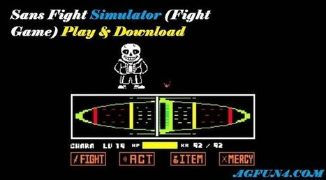 Sans Fight Simulator (Fight Game) Play & Do