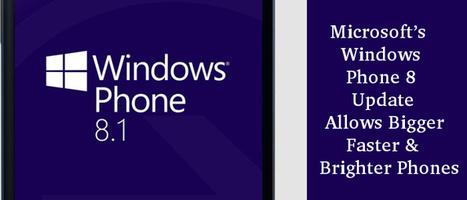 Microsoft's Windows Phone 8 Update – Allows Bigger, Faster & Brighter Phones | Web Development Blog, News, Articles | Scoop.it