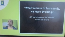 """What we have to learn to do, we learn by doing."" –  Om seminariet Sociala medier i offentlig sektor 