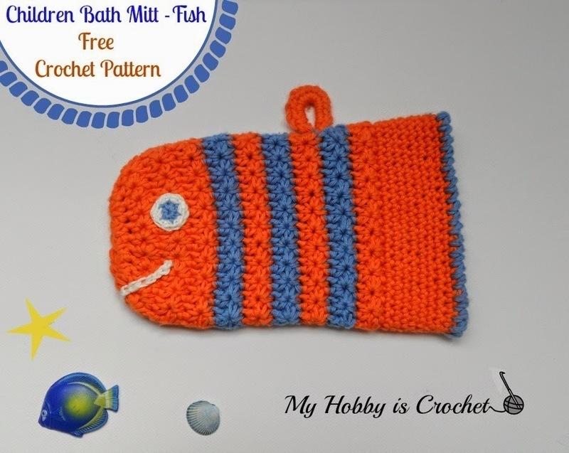 My Hobby Is Crochet Crochet Fish Bath Mitt St
