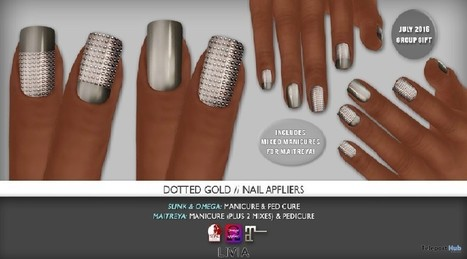 1e6b317b3e27 Dotted Gold Nail Appliers July 2016 Group Gift by LIVIA