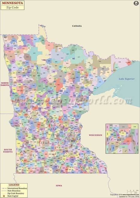 Minnesota Zip Code Map, Minnesota Postal Code |...