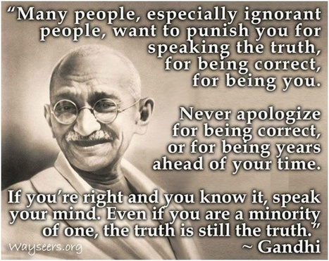 Gandhi... | Quote for Thought | Scoop.it