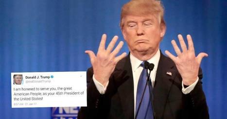 Donald Trump honoré d'être Président ? Il a réussi à faire une faute - Bescherelle ta mère | Crise de com' | Scoop.it
