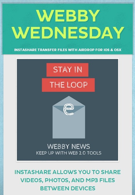 Librarians on the Fly: Webby Wednesday - Instashare | Educational technology | Scoop.it