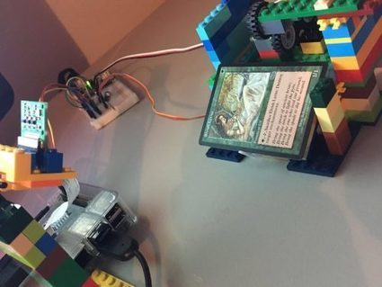 Magic: The Gathering card scanner with and Leg