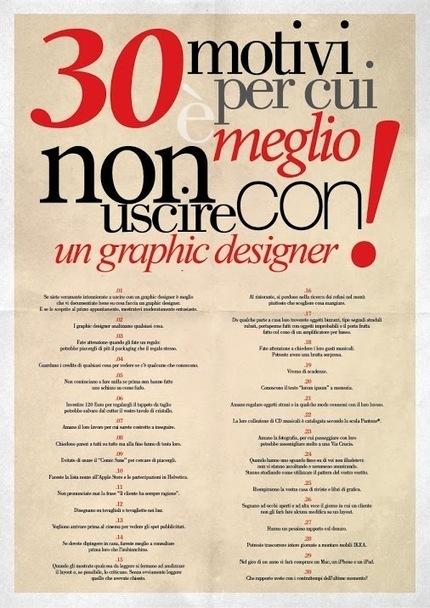 30 Motivi per cui è meglio non uscire con un graphic designer! | Grafica e Multimedia | Scoop.it