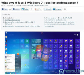 Windows 8 face à Windows 7 : quelles performances ? | Souris verte | Scoop.it