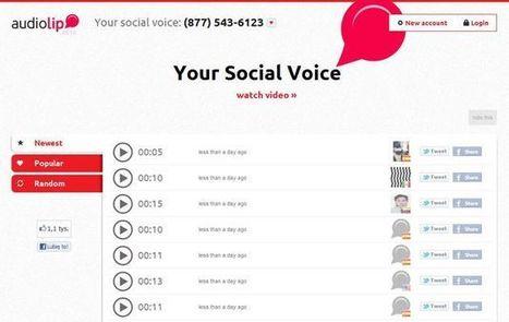 Audiolip, plataforma online para grabar audio y compartirlo en Twitter y Facebook | Aplicaciones para crear | Scoop.it