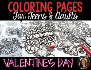 Coloring Pages for Adults, Teens: Valentine's Day   Resources for Teachers   Scoop.it