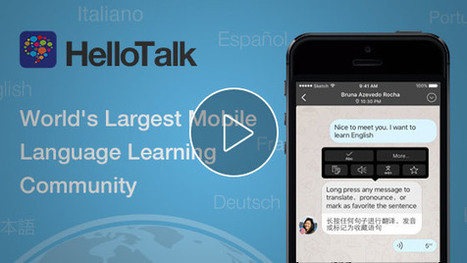 HelloTalk Language Exchange App | Teaching in Higher Education | Scoop.it