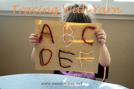 Mess For Less: Tracing With Yarn | Literacia no Jardim de Infância | Scoop.it