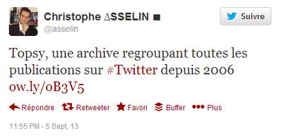 Topsy : une archive de Twitter ou un moteur de recherche de tweets ? | Outils d'analyse du Social Media | Scoop.it