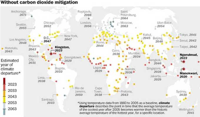 Map: These are the cities that climate change will hit first