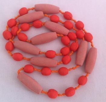 leftover silk Cocoon pattern bead necklace, ethically handmade | Craftworks Cambodia. Fair trade Crafts | Scoop.it