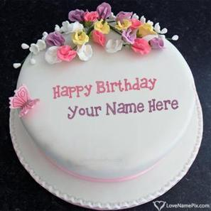 Love Wishes Birthday Cakes With Name Scoop It